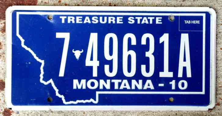 1 Vintage 2010 Montana License Plate 7 49631a Mt