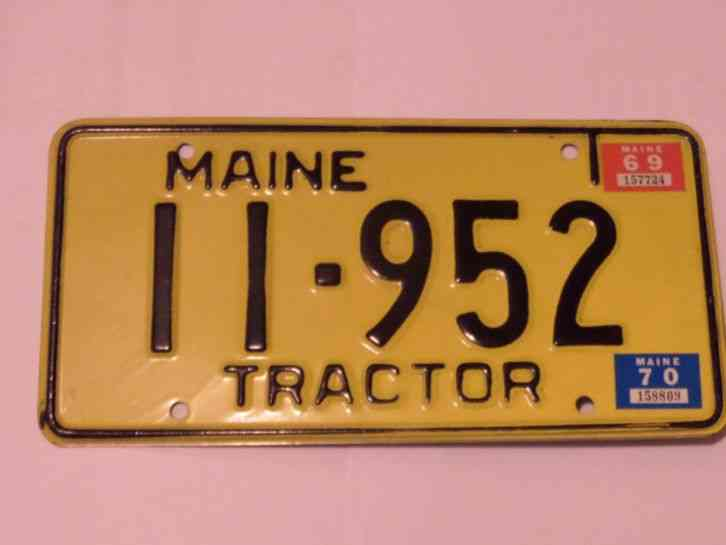 Tractor License Plates : Maine tractor license plate free shipping