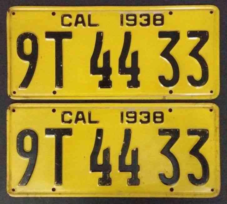 Volkswagen Dealers In Maine: 1942 California Long Metal Year Tab # 1019313