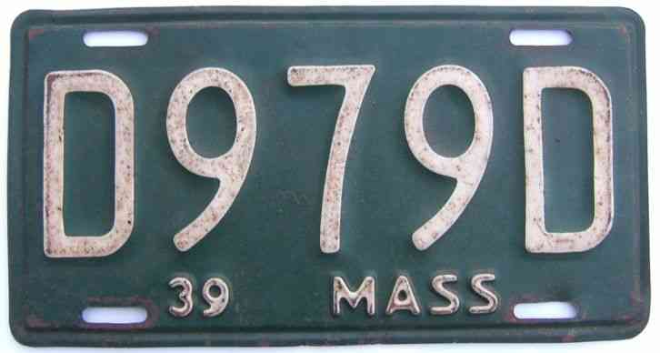 1928 massachusetts license plate cod fish five digit for Missouri fishing license age