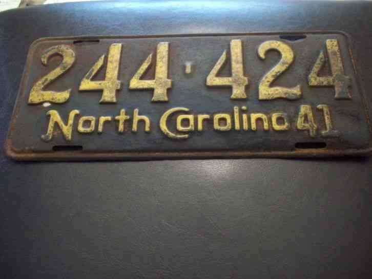 Cars For Sale In Maine >> *1941* NORTH CAROLINA LICENSE PLATE AUTO TAG WARTIME WW2