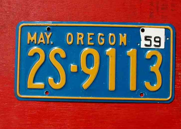 1947 Oregon Nice Original PAIR 111 268 License Plates