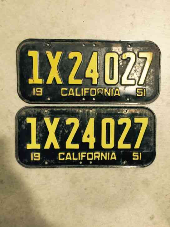 Dating california dmv license plate by numeral sequence