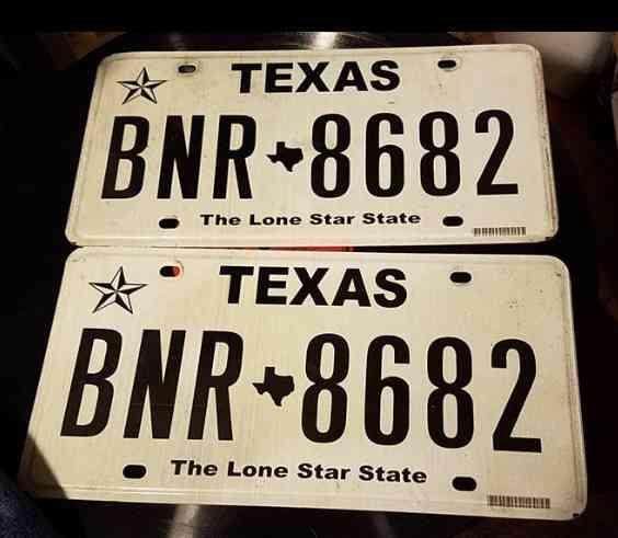 Texas Antique Vehicle Plates – Jerusalem House