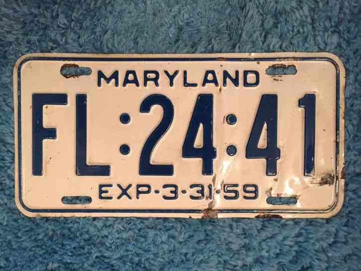 Tractor License Plates : Indiana tractor license plate tag original