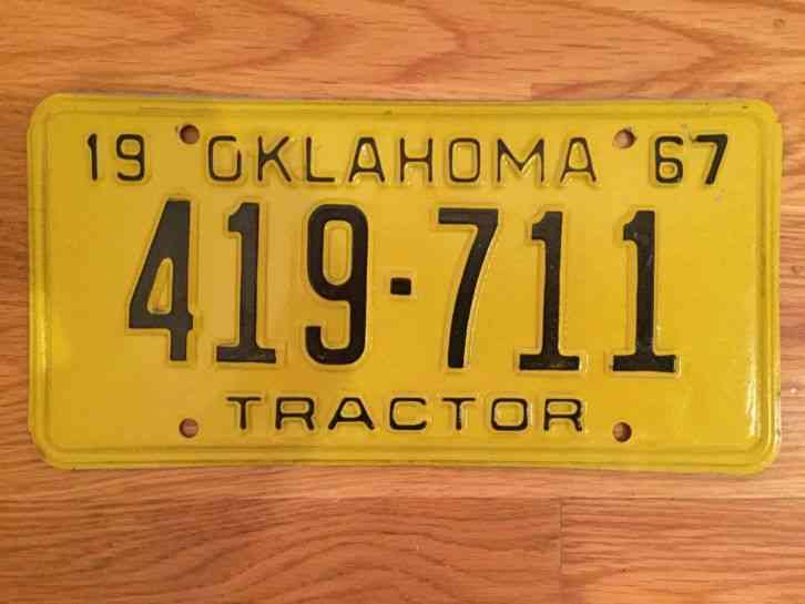 Tractor License Plates : Oklahoma tractor license plate super sharp all