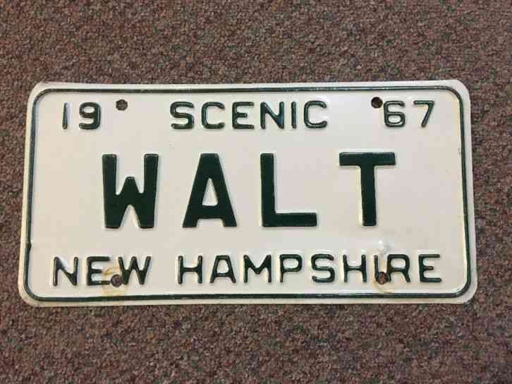 1961 New Hampshire License Plate Bf 138 Nh Plates Tag