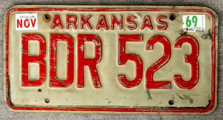 1961 Arkansas License Tag Rat Rod