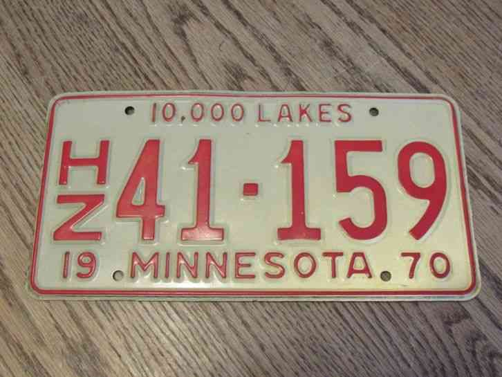 Minnesota 10000 lakes 1974 nos just opened license plate for How much is a new york state fishing license