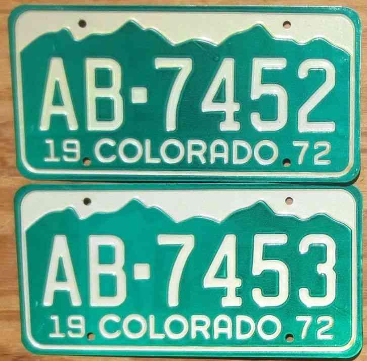 1995 DENVER LICENSE PLATE A5E386