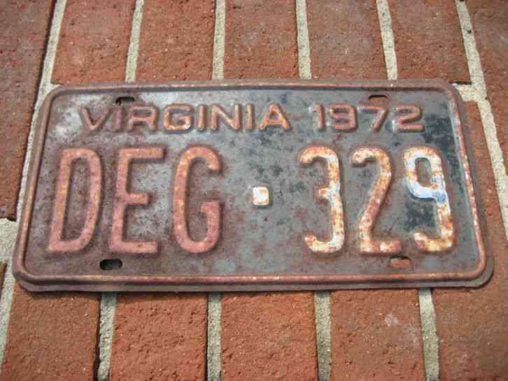 License plate vintage virginia
