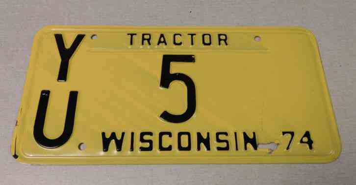 Tractor License Plates : Wisconsin tractor license plate