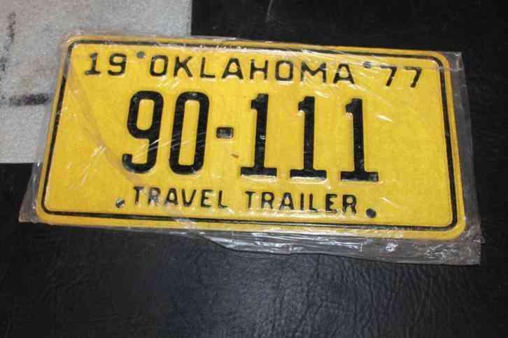 Alaska Travel Trailer Plate