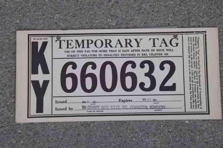 353 100 grayson county 1972 kentucky license plate nos. Black Bedroom Furniture Sets. Home Design Ideas