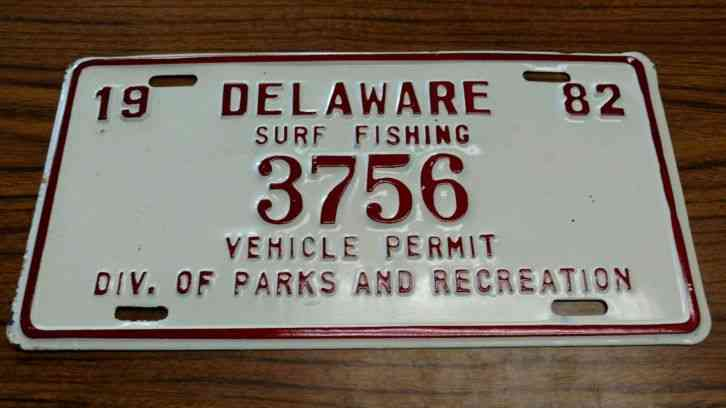 1982 delaware surf fishing vehicle permit for Pa fishing license prices