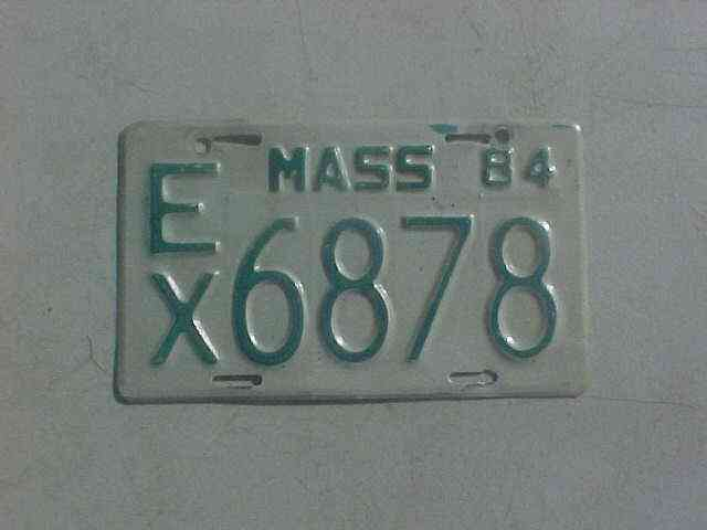 Massachusetts 1966 license plate h2565 antique rat rod for Ma fishing license cost