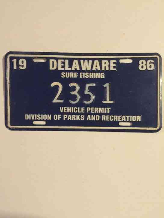 1986 delaware surf fishing permit tag for North carolina surf fishing license