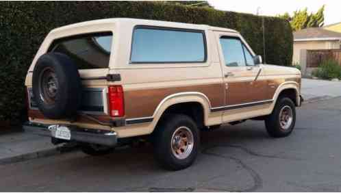 ford bronco xlt 1986 86 full size automatic. Black Bedroom Furniture Sets. Home Design Ideas