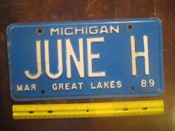 Vintage 1979 Michigan Motorcycle License Plate