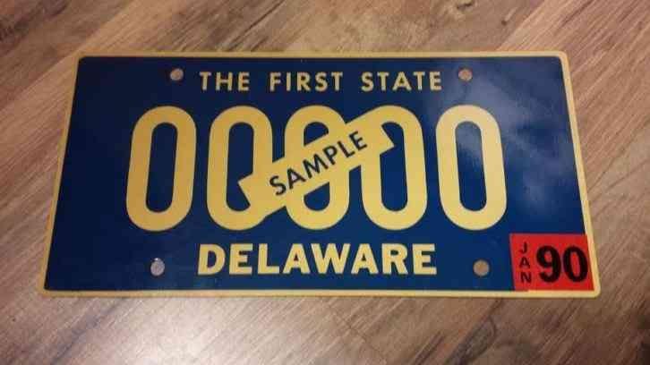 Vintage delaware pc 1358 license plate 1965 antique car for Surf fishing nj license