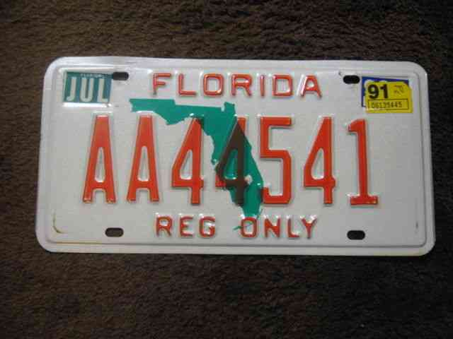 New embossed florida fishing protect the marlin car boat for Tennessee fishing license prices