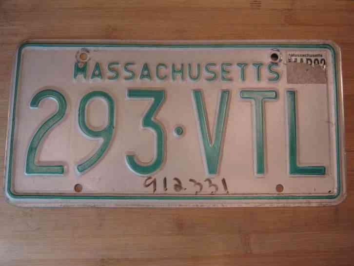 1992 massachusetts plate expired 293 vtl for Mass commercial fishing license