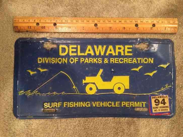 Delaware small wonder front license plate for Pa fishing license prices
