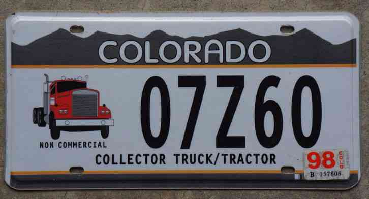 Tractor License Plates : Colorado collector truck tractor license plate