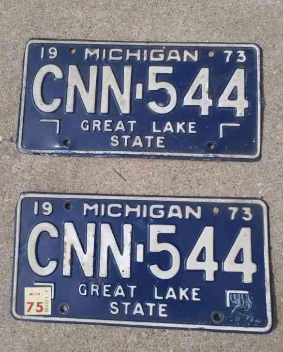 Michigan License Plates for sale
