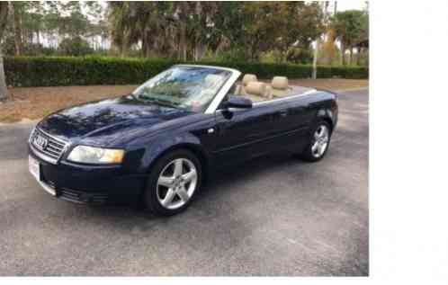 audi a4 cabrio convertible 2 door 2004 just in time for. Black Bedroom Furniture Sets. Home Design Ideas
