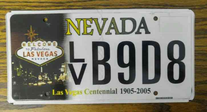 2011 nevada law vegas license plate for Nys fishing license prices