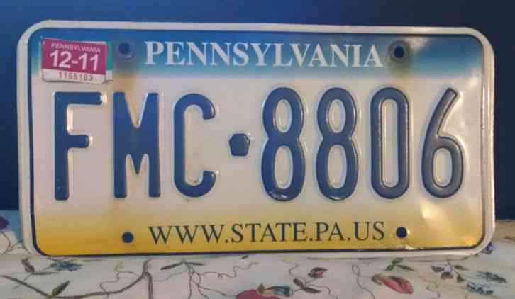 2011 PENNSYLVANIA LICENSE PLATE A REAL BEAUTY
