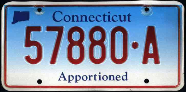 Tractor License Plates : Connecticut apportioned truck tractor license plate