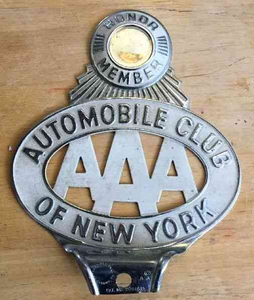 AAA AUTOMOBILE CLUB OF NEW YORK HONOR MEMBER License Plate