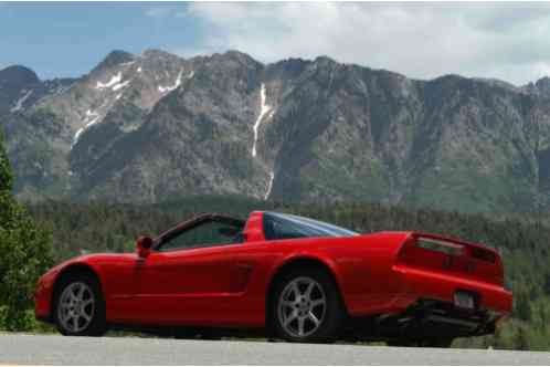acura nsx nsx t 1995 t with 3 2 liter engine red exterior black. Black Bedroom Furniture Sets. Home Design Ideas