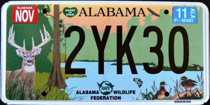Alabama wildlife deer duck fish turkey bass al grpahic for Indiana fishing license age