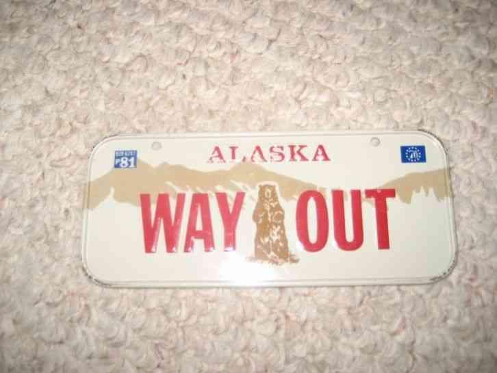 alaska mini license plate post cereal giveaway 1981 free. Black Bedroom Furniture Sets. Home Design Ideas