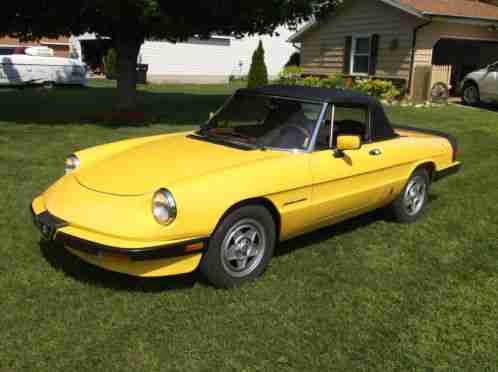 alfa romeo spider veloce 1984 very nice 2 0 87k this is the. Black Bedroom Furniture Sets. Home Design Ideas