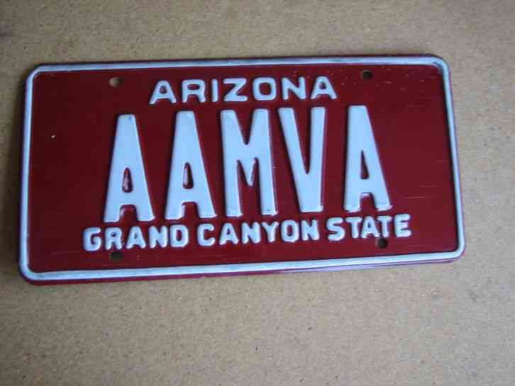 1931 Arizona License Plate 11 24 68