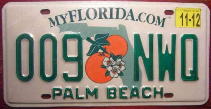 Florida motor vehicle license plate broward m05 62b for Motor vehicle registration florida