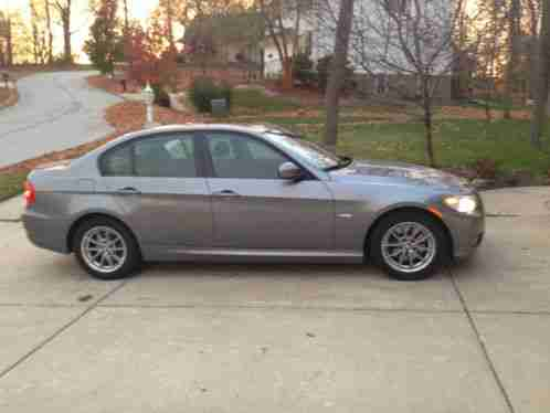 Bmw 3 Series 2010 Gray Silver Sedan Black Leatherette