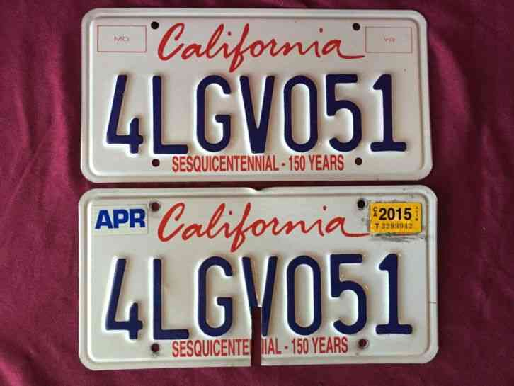 California lipstick sesquicentennial license plates for Arkansas game and fish license