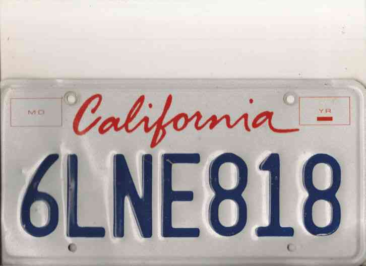 Cost Of Car License Plates In Each State