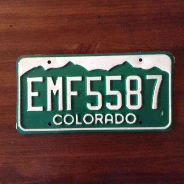 Colorado Collector Vehicle Plate 549-CAO
