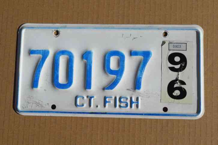 1924 connecticut license plate tag vintage antique ford for Fishing license ct