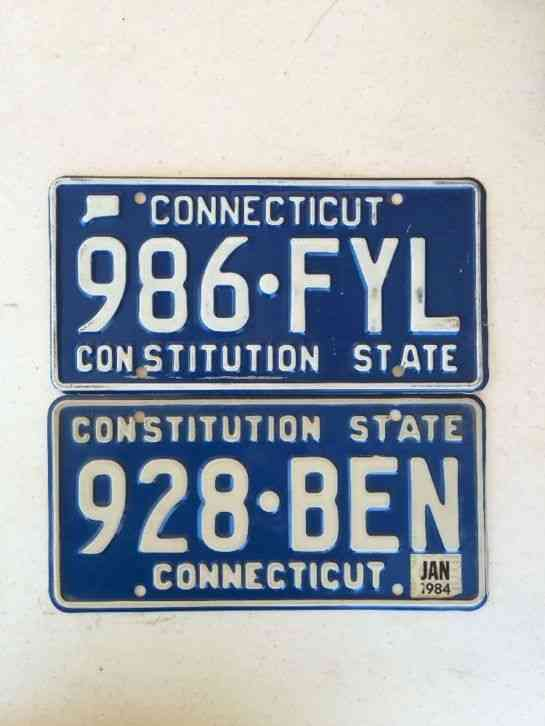 Connecticut license plate for Pa fishing license prices