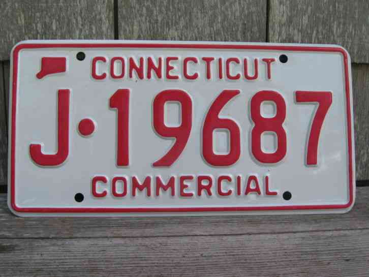 Vintage connecticut license plates