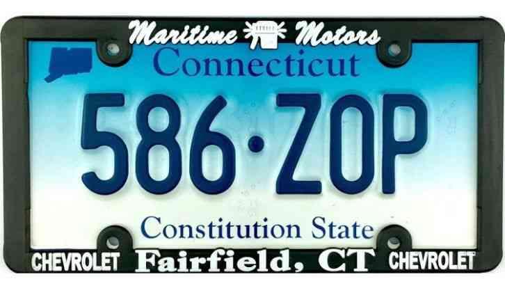 1970s connecticut camp tr license plate 209914 ForMaritime Motors Fairfield Connecticut