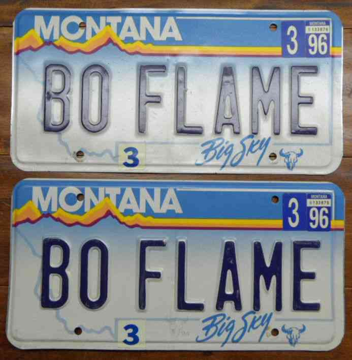 Cool unique montana personalized license plates bo flame for How much is a new york state fishing license