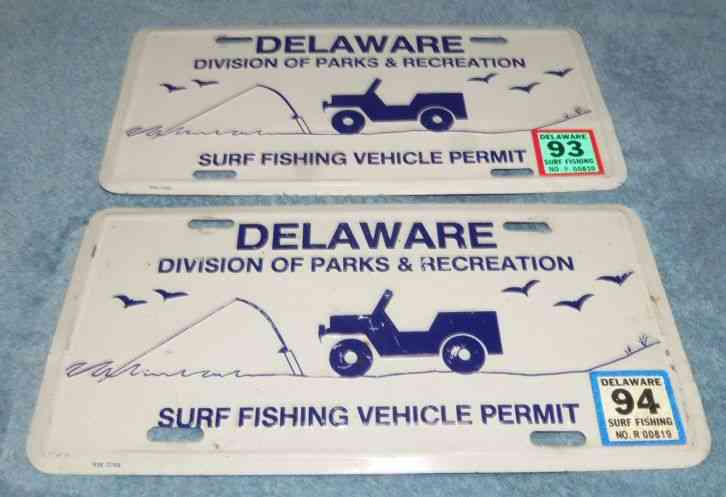 License plate delaware 1934 for North carolina surf fishing license